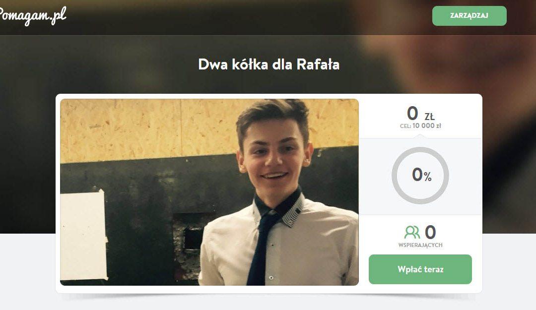 Dwa kółka dla Rafała – zbiórka
