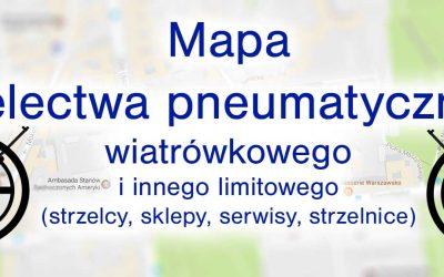 Mapa wiatrówkowiczów, strzelnic i sklepów oraz serwisów wiatrówkowych