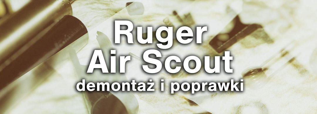 Ruger Air Scout cz2 – rozbiórka, przegląd i poprawki